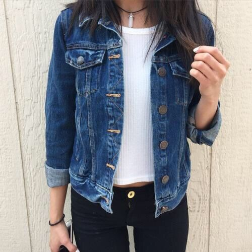 The 25  best Jean jacket outfits ideas on Pinterest | Green jeans ...