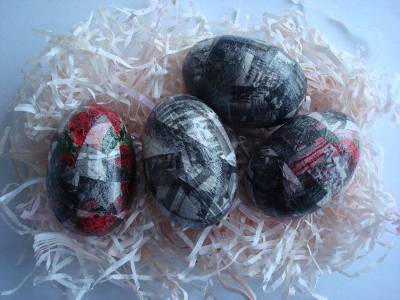Red roses easter eggs by Valelval on Etsy