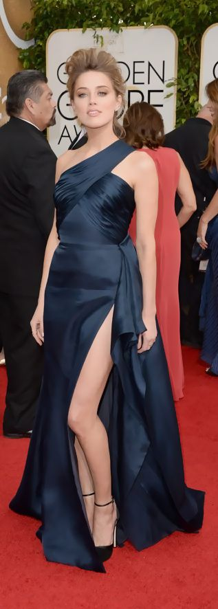 Amber Heard #goldenglobes #amberheard #navysilk