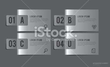 Metal Labels Infographic Elements - Vector Illustration