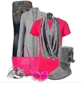 #UGGCLAN-com, grey cardy boots bailey button for fashion uggs outfit,