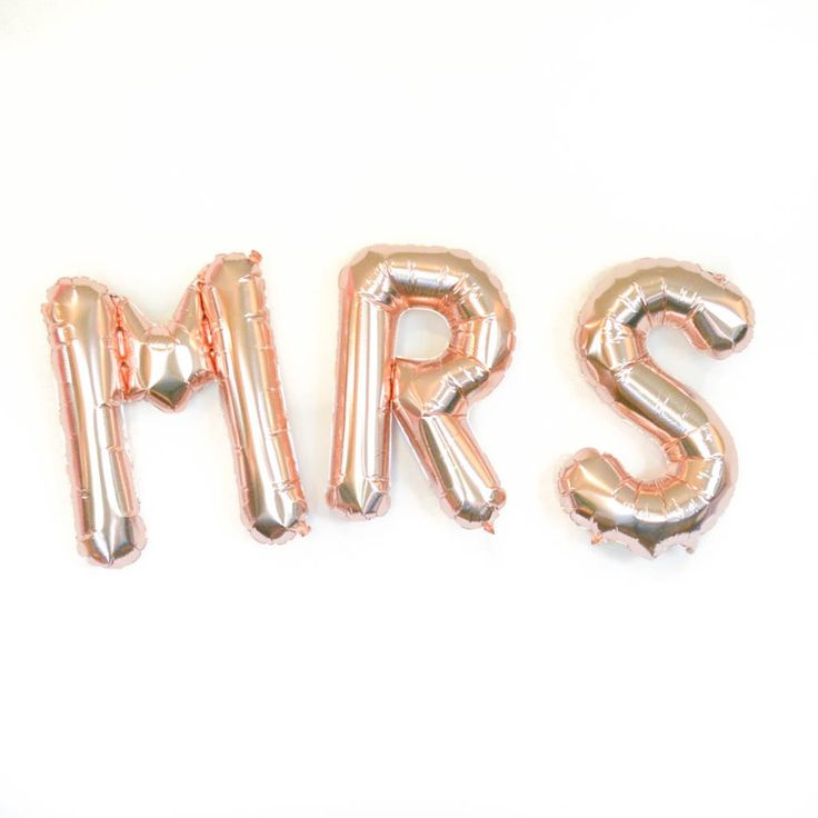These beautiful rose gold MRS balloons is will put the finishing touch on your wedding celebration! The new Mrs. will love these! Perfect for engagement, bridal shower, bachelorette....the new Mrs. wi