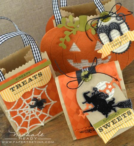 treat bag ensemble by nichole heady for papertrey ink august 2012 - Pinterest Halloween Treat Bags