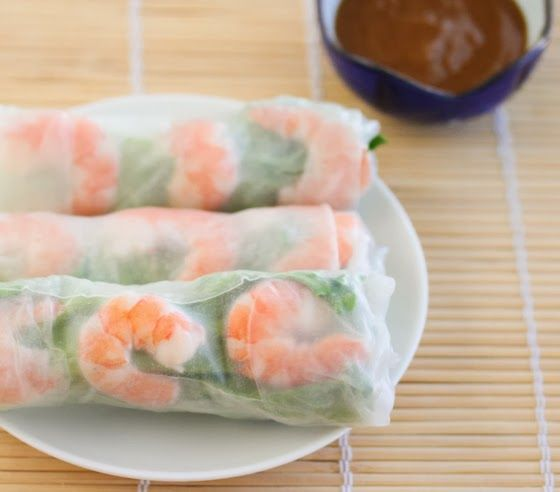 Fresh Vietnamese Shrimp Spring Rolls (with step by step) | Kirbie's Cravings | A San Diego food blog (with peanut dipping sauce)