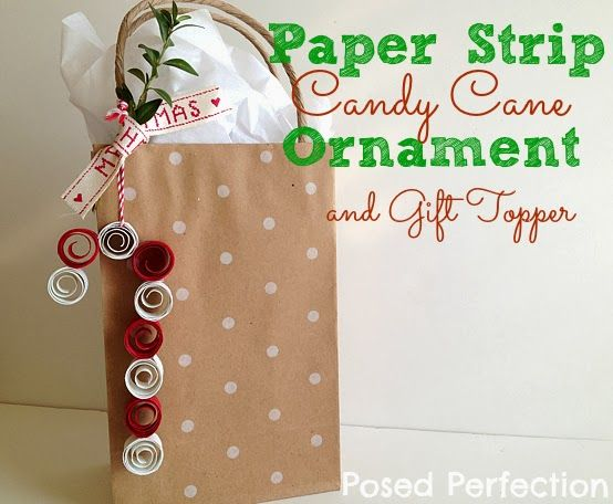 Posed Perfection: Paper Strip Candy Cane Ornament and Gift ...