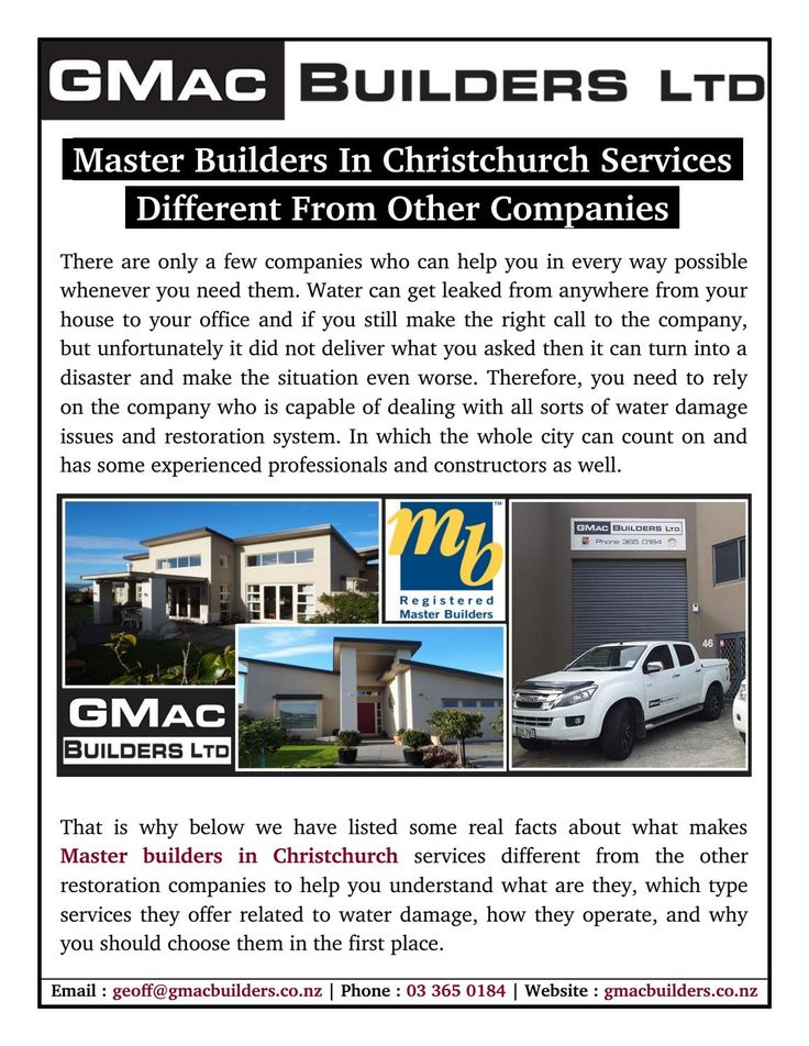 Master Builders in Christchurch services different from the other restoration companies to help you understand what are they, which type services they offer related to water damage, how they operate, and why you should choose them in the first place.