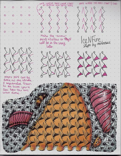 IceNFire Tangle Pattern by molossus, who says Life Imitates Doodles, via Flickr
