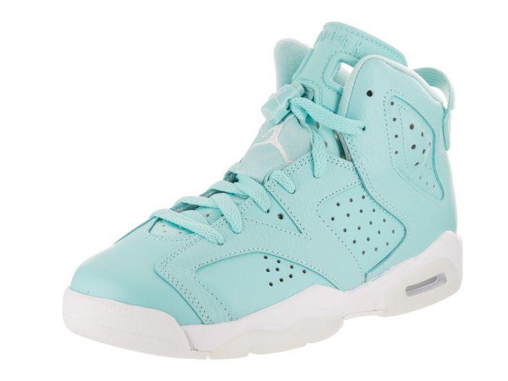 Nike Jordan Kids Air Jordan 6 Retro GG Still Blue/White/White Basketball Shoe 4 Kids US
