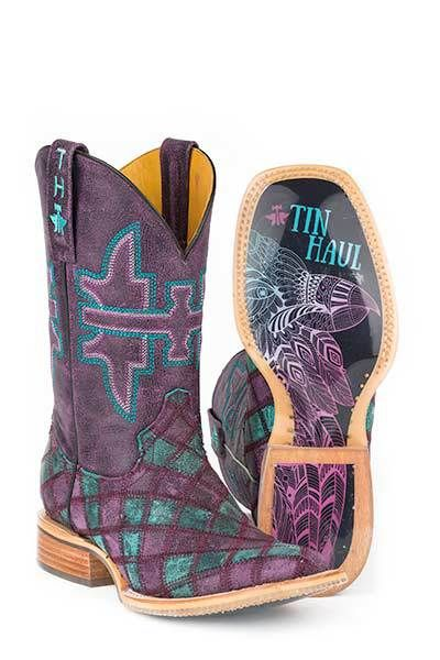 Tin Haul Women's Chevron and Eagle Cowgirl Boots - HeadWest Outfitters