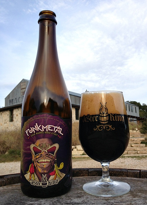 YES!  Jester King Craft Brewery just released a new sour.  Adding to my must-try-this ASAP list. Jester King Funk Metal Sour Barrel-Aged Stout