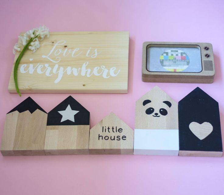 panda, little house, love