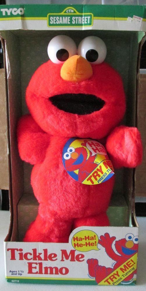 Sesame Street Elmo doll Tickle Me Laughs Shakes Tyco 1996   New #Tyco