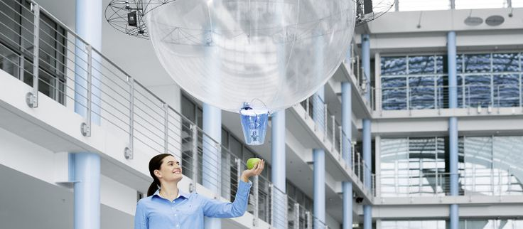 Festo's latest creation -a robotic balloon can absorb & carry objects