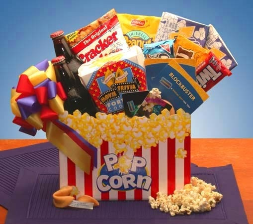 prize idea for raffle  - movie lovers gift basket
