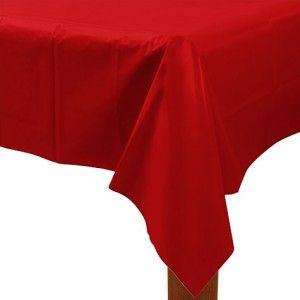 Köp Plastduk Röd hos Partytajm