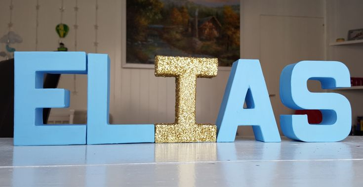 Nursery room letters name decoration boy