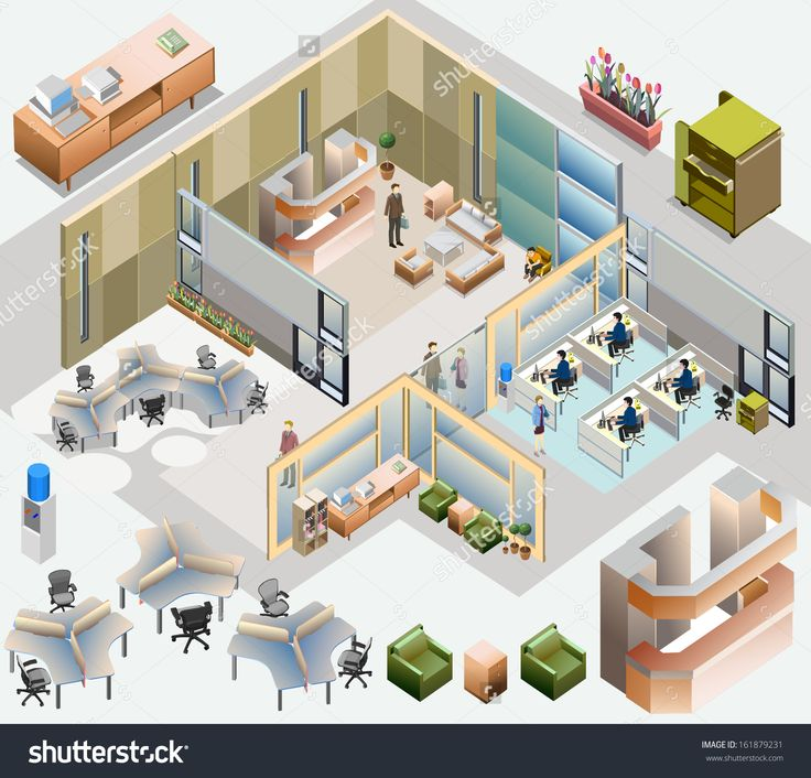 stock-vector-office-isometric-with-completed-workstation-meeting-room-receptions-lobby-include-business-161879231.jpg (1500×1439)