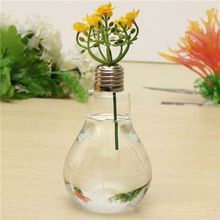 5pcs Bulb Ttype Aquiculture Container Glass Vase Flower Plant Water Container Family Wedding Decoration 12x8cm(China (Mainland))