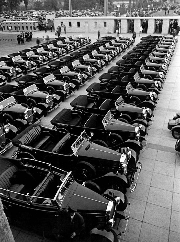 1936, Les Mercedes Officielles Berlin Olympiade 1936