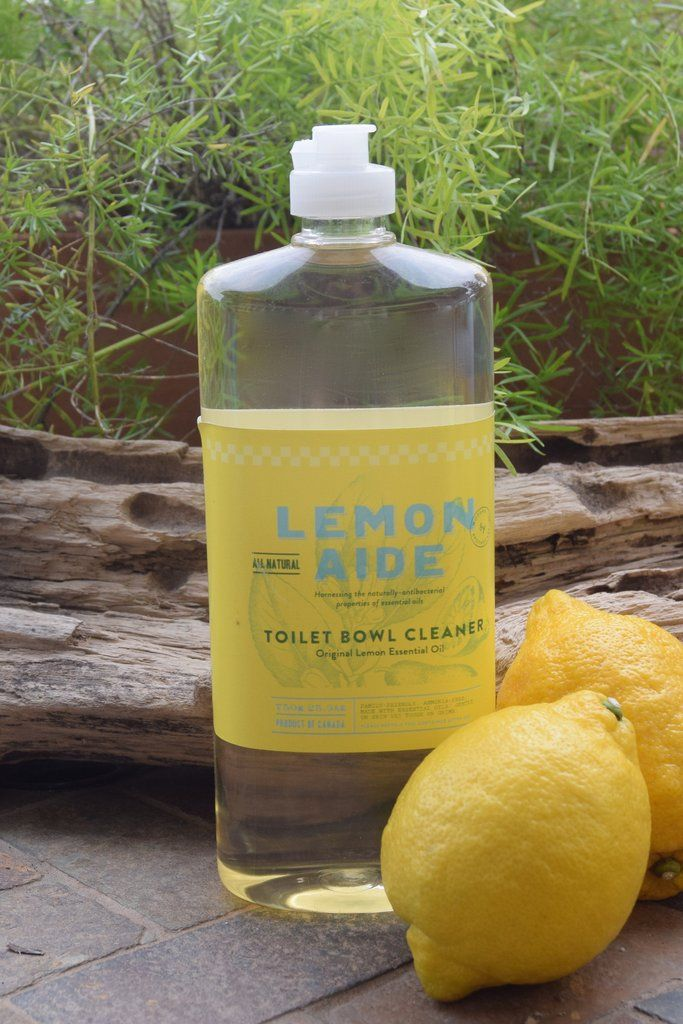 LEMON AIDE - LEMON TOILET BOWL CLEANER  Ingredients: Aqua (purified water), Alcohol, Polysorbate 20, essential oils, phenoxyethanol, Sodium Carbonate.