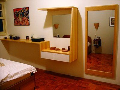 Long mirror dressing table