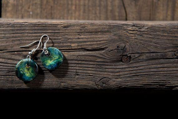colourfull lake earings by SamoPL on Etsy