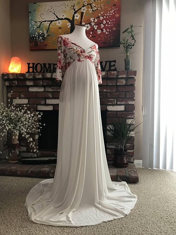 b6bb562f6b Calle floral maternity gown jersey maternity dress baby