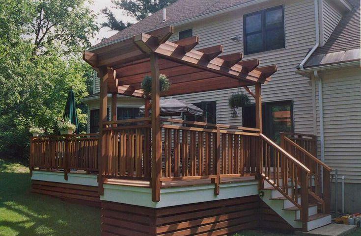 horizontal lattice under deck decks porches