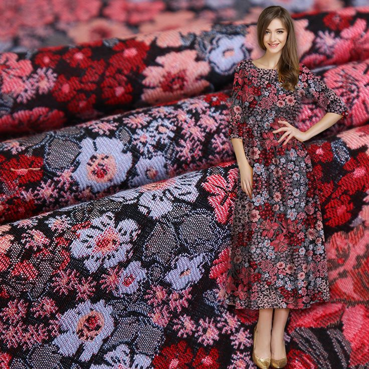 High-grade black and white high quality hand high precision high weft dense small floral cotton woven fabric fashion fabric