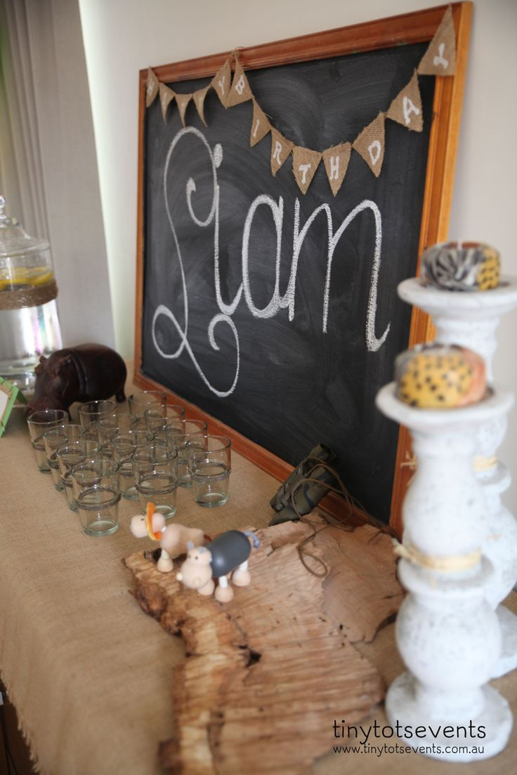Safari party drinks buffet - Tiny Tots Events - Melbourne's Little People Parties specialist