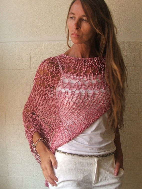 summer pink Loose weave cotton shrug 3 left  in this by ileaiye,