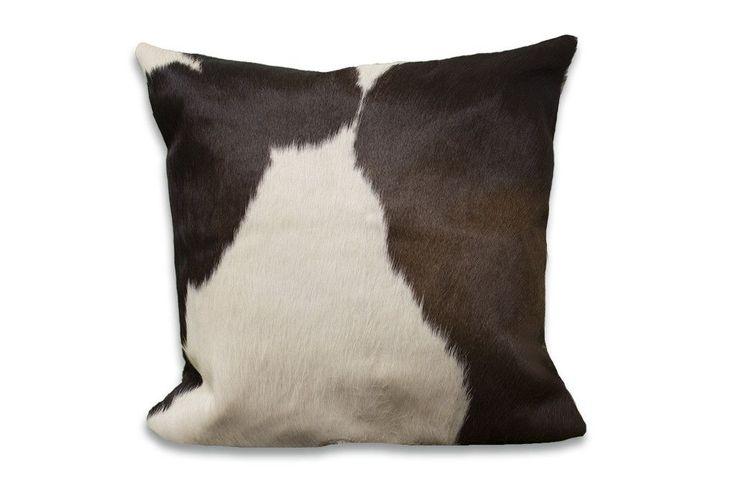 Dark Espresso Cowhide Rug Large Pillow Case