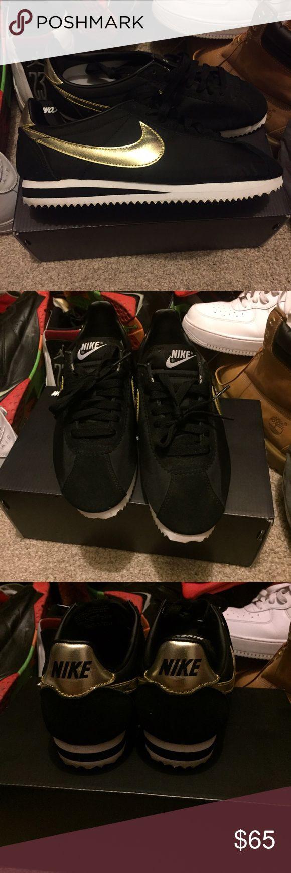 Nike Cortez Black & gold Nike women's Cortez Nike Shoes Sneakers