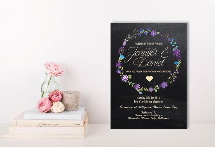 A personal favourite from my Etsy shop https://www.etsy.com/au/listing/258378890/bohemian-wedding-invitation-parisian