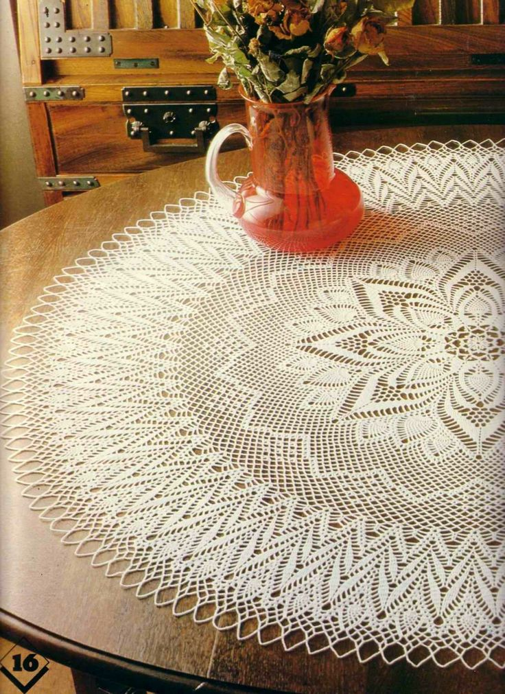"Magic Crochet #13 ""Round tablecloth"" 