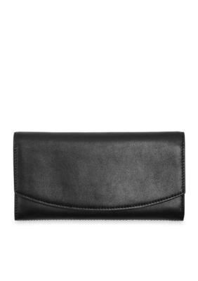 Skagen Black Radio Frequency Identification Continental Flap Wallet