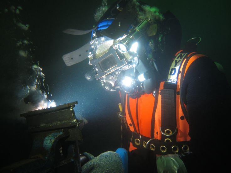 Nyd wet welder training underwater welding underwater
