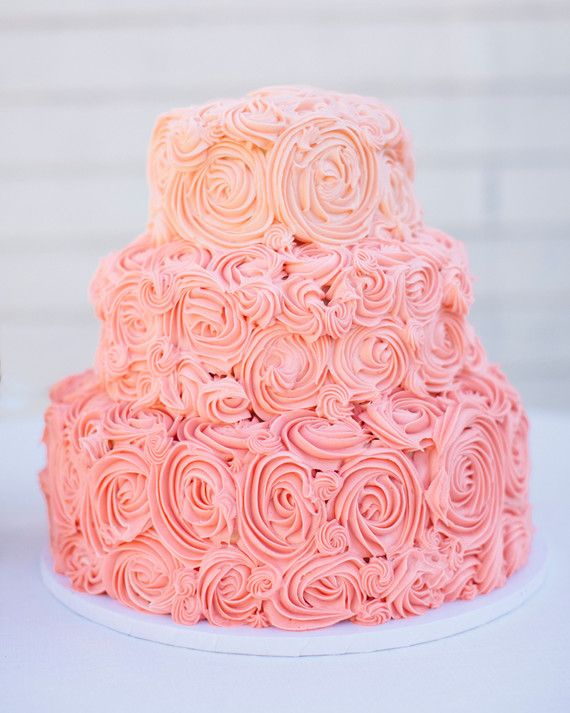We Love The Pink Swirls Of Lemon Buttercream Frosting On This Incredible Vanilla Confetti Cake From