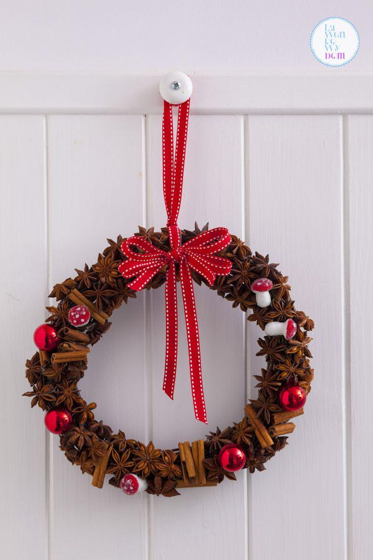 Świąteczny wieniec korzenny DIY | Lawendowy Dom