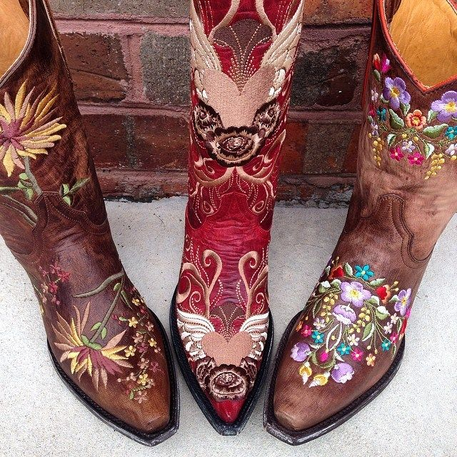 Want a pair of statement boots? Consider Old Gringo embroidered styles. Left to right: Ellie, Grace & Sora.
