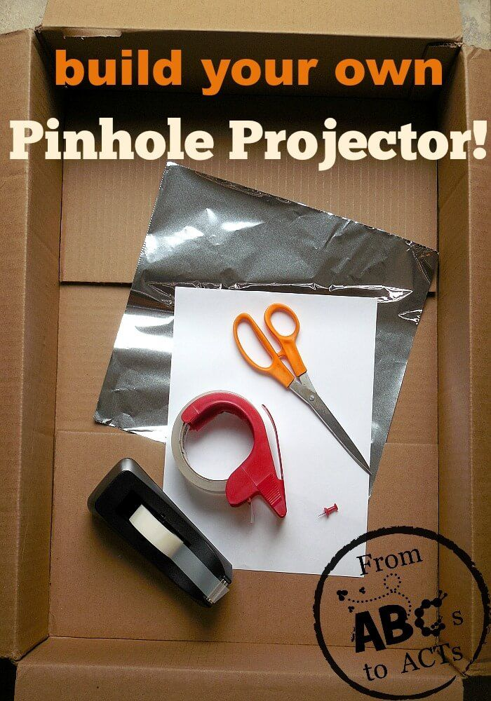 Incorporate a little STEM learning into you day and make your very own pinhole projector for viewing the solar eclipse this Summer!