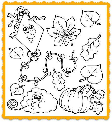 Fall Coloring Page For Kids Its A And Song