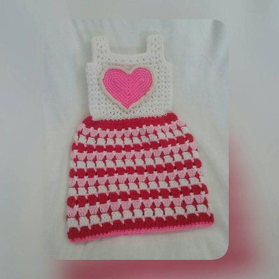 Crochet Baby Dress pink baby dress for 3-6 months