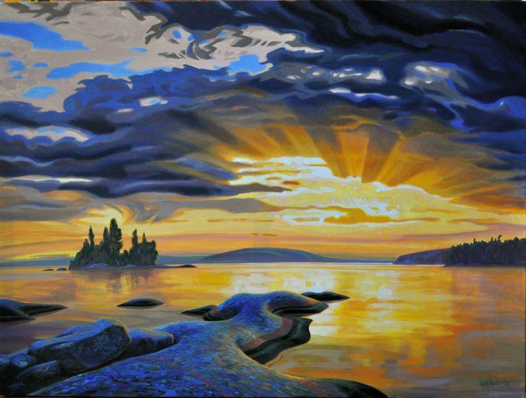 Terry Watkinson, 'Westpoint' at Mayberry Fine Art 36 x 48 (2011)