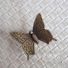 42 mm de Bronze antigo da borboleta puxadores Dresser puxa gaveta alças armário…