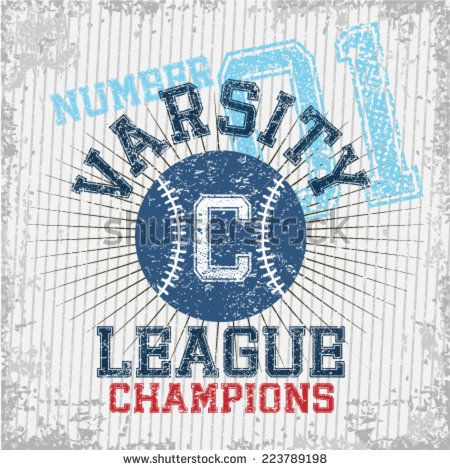Varsity Sports League - Grunge vector illustration for boys sportswear