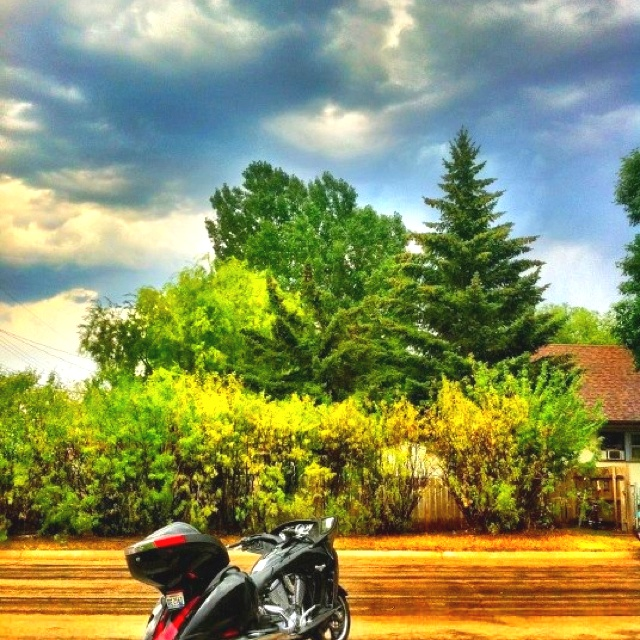 And then the rain came to Sturgis. Photo courtesy of Victory Motorcycles - Sturgis 2012 photo album.