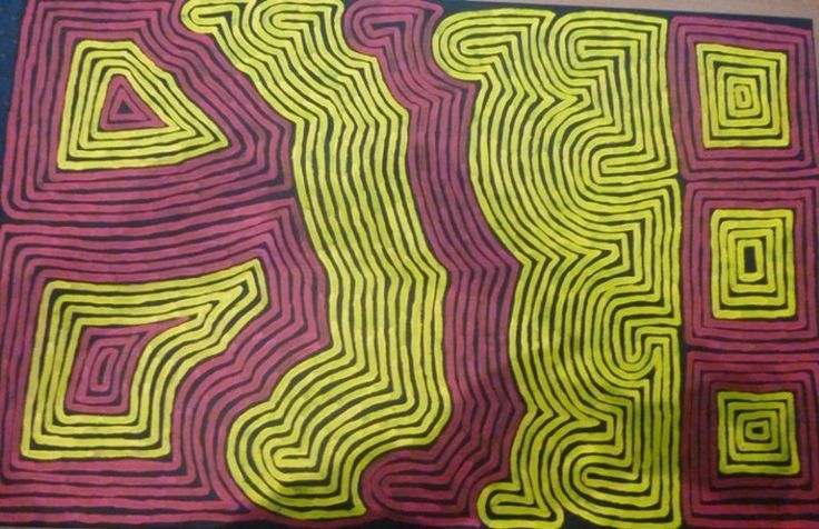 Original Aboriginal Indiginous Art Painting Ronnie Tjampitjinpa 700mm x 1100mm in Art, Aboriginal, Paintings | eBay!