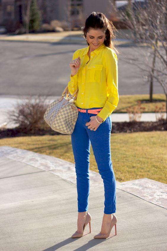 Outfits con color azul rey - Curso de Organizacion del hogar