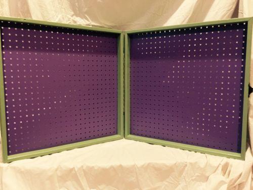 Portable Vendor Scentsy Paparazzi Jewelry Pegboard Display Case